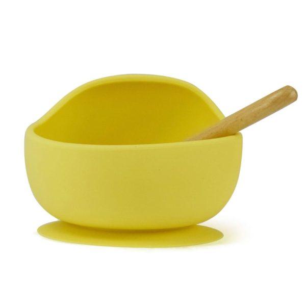family36 gummi essschüssel kinder gelb